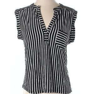Topshop black and white striped top